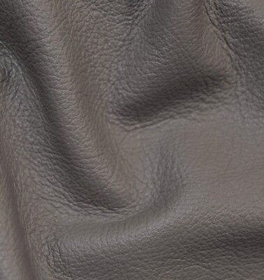 24 sf  2.5 oz gray taupe  Upholstery Cow Hide Leather Skin Piece  - Leather Skin Piece