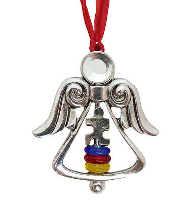 Autism Awareness Angel Christmas Ornament Aspergers Syndrome In Gift Box