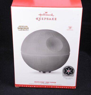 BRAND NEW Hallmark Star Wars DEATH STAR Tree Topper Lights & Sound w/ Remote