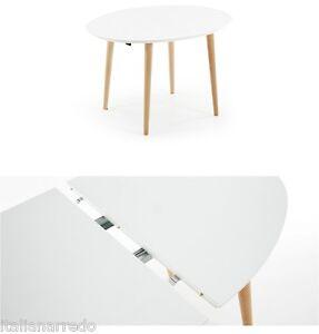 Tavolo ovale allungabile bianco tortora 120 200x90 design - Tavolo bianco ovale allungabile ...