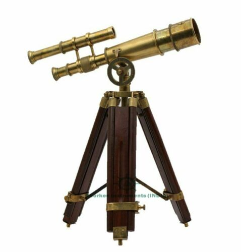 Vintage Antique Tripod Brass Telescope Brass Nautical Telescopes handmade design