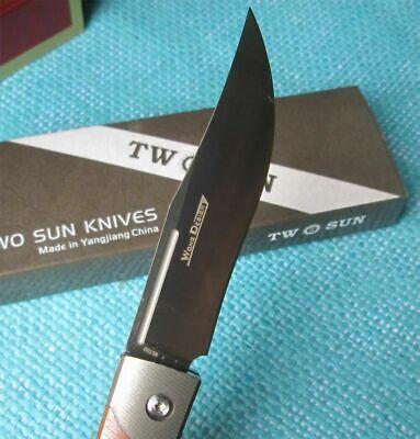 Twosun Knives Camping SLIP JOINT M390 Titanium Pocket Folding Knife TS123
