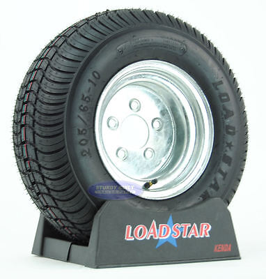 (2) Kenda Loadstar Trailer Tires 20.5x8-10 Galvanized 5 Lug Wheel 205/65-10 (Loadstar Tires)