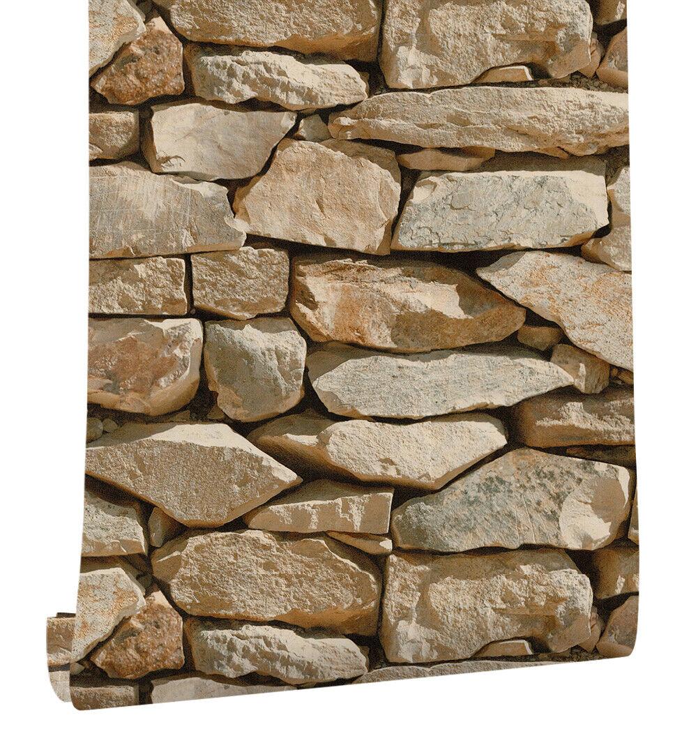 faux stone wallpaper sand gray balck for home kitchen decor 20 8 x rh ebay com