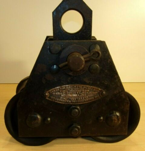 Antique Industrial Brown Hoisting Machinery Co Brownhoist trolley pulley HD