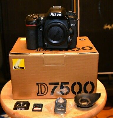 NIKON USA  D7500 DX Digital SLR Camera (Body Only) SHUTTER COUNT 3943! XTRAS!