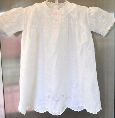 Vintage Baby Dress Embroidered with Tucks for sale  Shipping to India