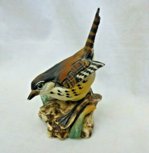 Capodimonte Bird Figure Bisque Double Mk