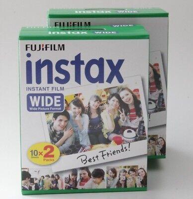 4 Stück Fuji Instax WIDE Color Sofortbildfilme glanz 10 Aufnahmen = 40 Aufnahmen