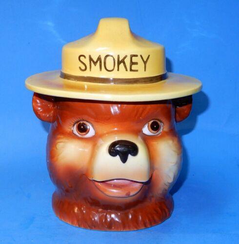 Rare  Norcrest Smokey the Bear Ceramic cracker / candy / Cookie Jar