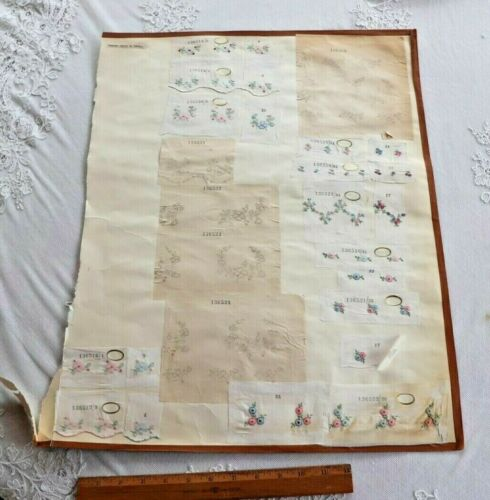 Swiss Antique c1920 Tiny Doll Scale Embroidery Samples~37 Pieces