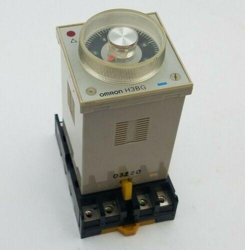 Omron H3BG-8H Timer Time Delay Relay H3BG 100/110/120V 50/60Hz 5A Coil 120V Used