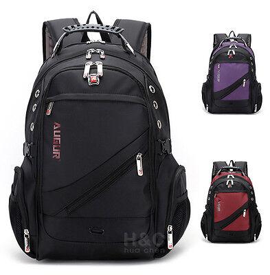 "Men's Travel Rucksack Notebook 15.6"" Laptop Backpack Hiking Swiss School Bag"