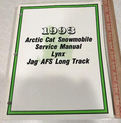 1993 ARCTIC CAT CAT SNOMOBILE SERVICE MANUAL LYNX JAG AFS LONG TRACK PN 2254-825 Arctic Cat Lynx