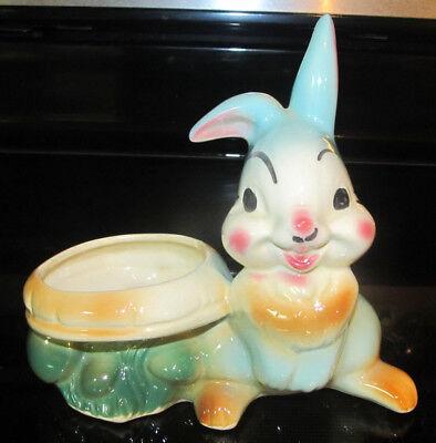 Vintage Walt Disney Thumper Porcelain Pottery Rabbit Planter Movie Bambi