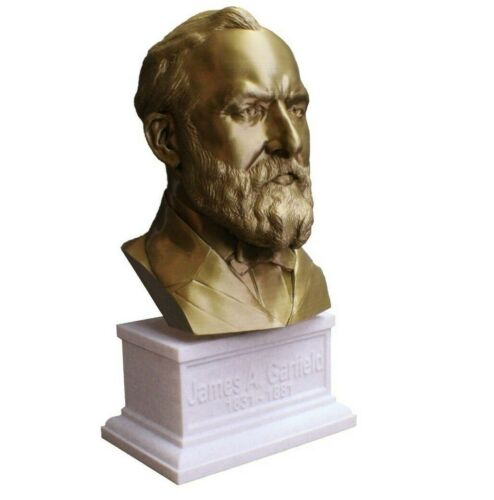 James A. Garfield 12 inch 3D Printed Bust US President #20 Art FREE SHIPPING