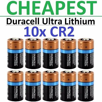 10 X Cr2 Duracell 3V Ultra Lithium Batteries  Dlcr2  Cr17355  Elcr2  Med  Photo