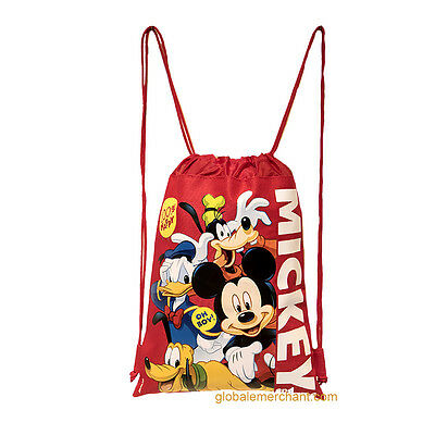 Disney Mickey Mouse   Friends Drawstring Red