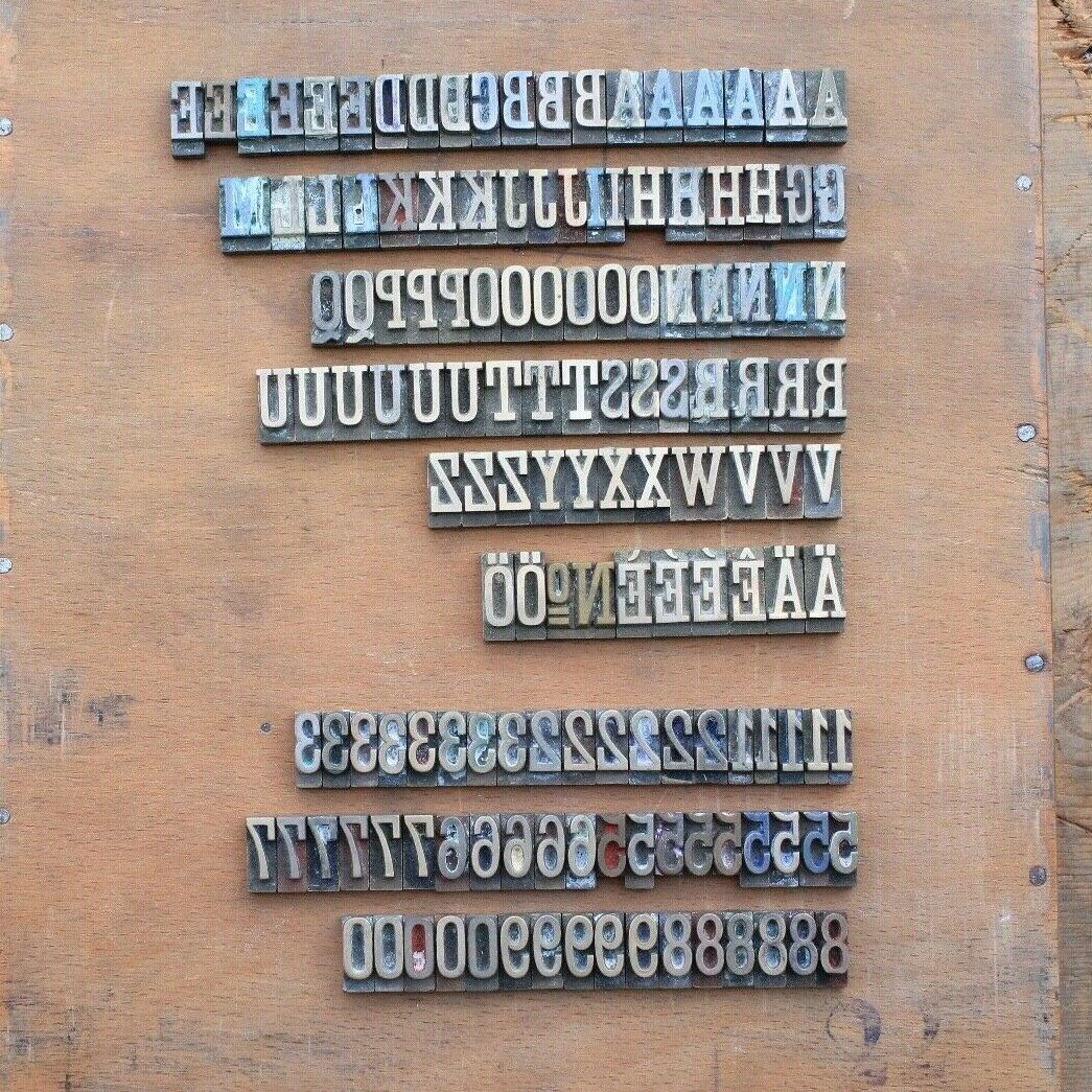 16 mm ANTIQUA Prägeschrift Messingschrift Prägetypen Buchbinder Handvergoldung