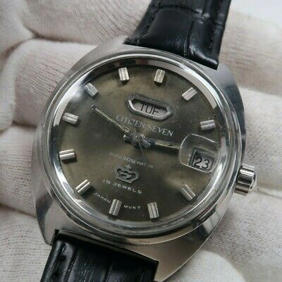 Vintage CITIZEN SEVEN STAR 4000-70 PARAWATER 40M 19J mens watch Japan