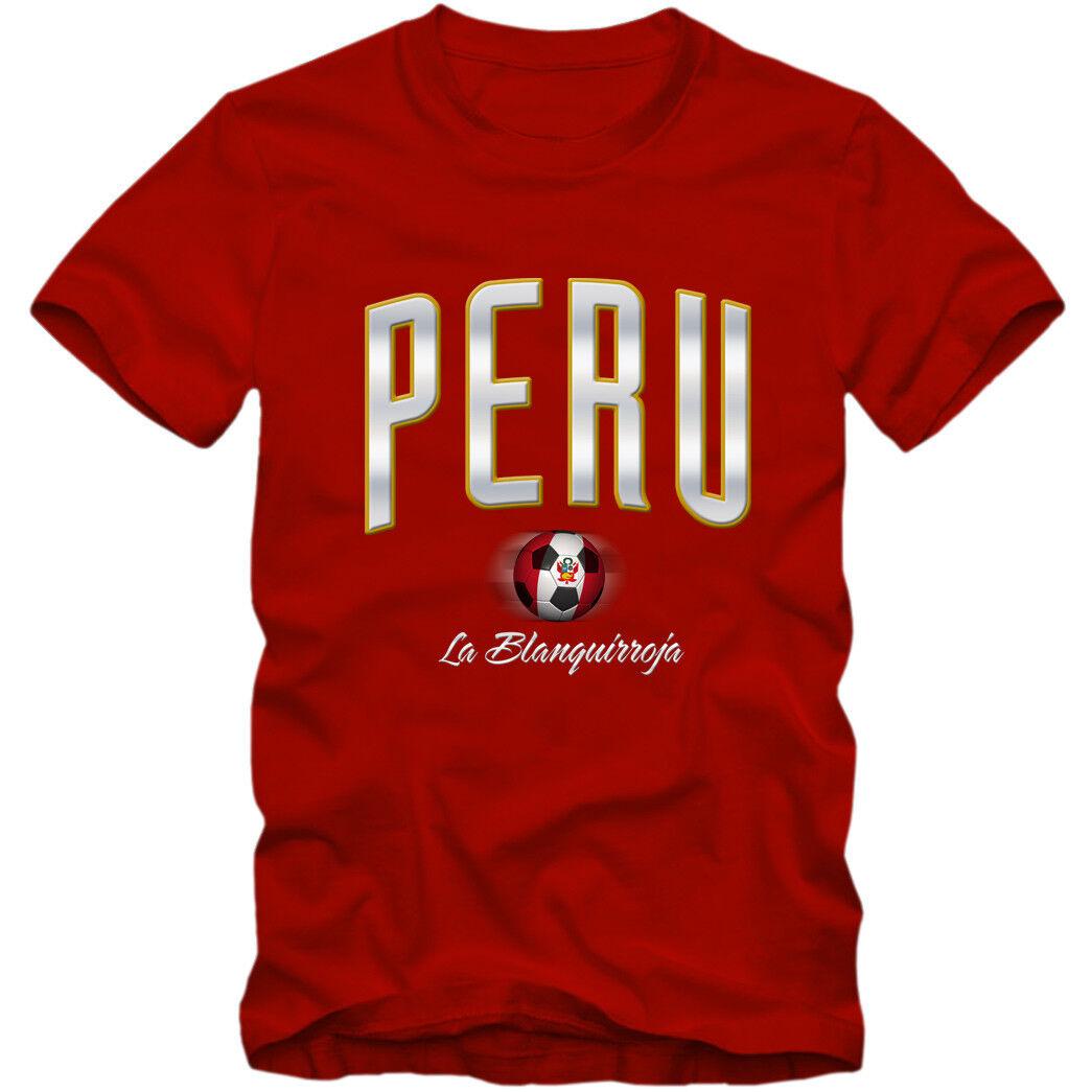 Herren T-Shirt Peru Fußball Soccer Football WM Trikot  DTG