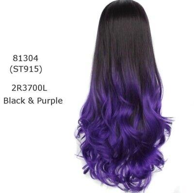 Parrucca 50 cm donna sintetica viola