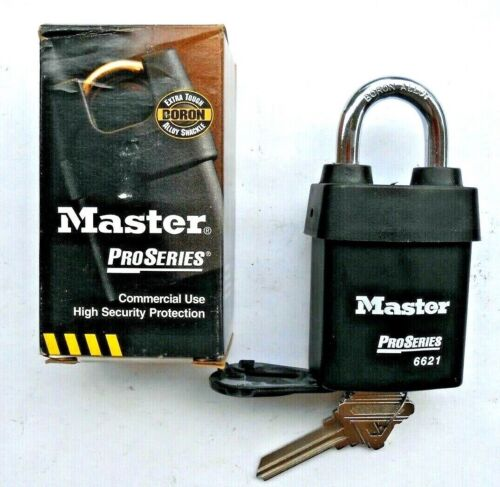 Master Lock Number 6621 ProSeries Shrouded Rekeyable Padlock Schlage  Keyway