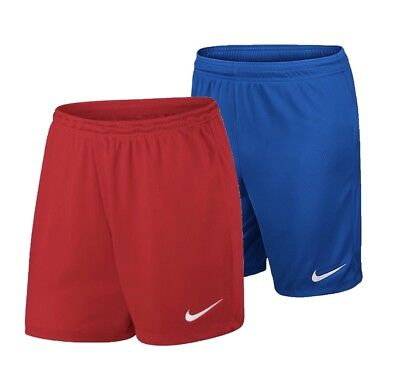 Nike Park 2 Knit Women's Dri-Fit Shorts - Red/Blue - Gym Running Football - New