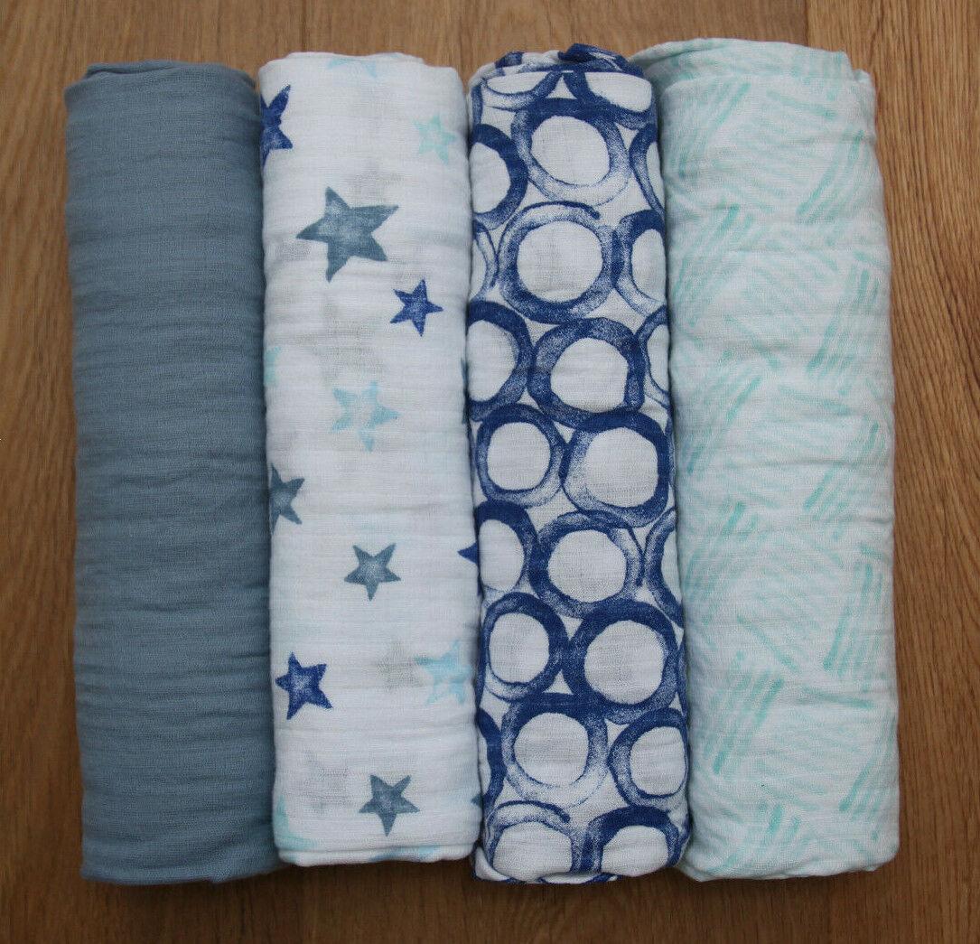 Aden Anais Baby Boy Swaddle Blanket ~ Fresh Air ~ Blue, Aqua