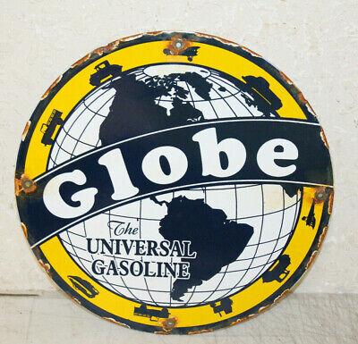 Globe Gasoline Oil Vintage Style Porcelain Signs Gas Pump Man Cave Station