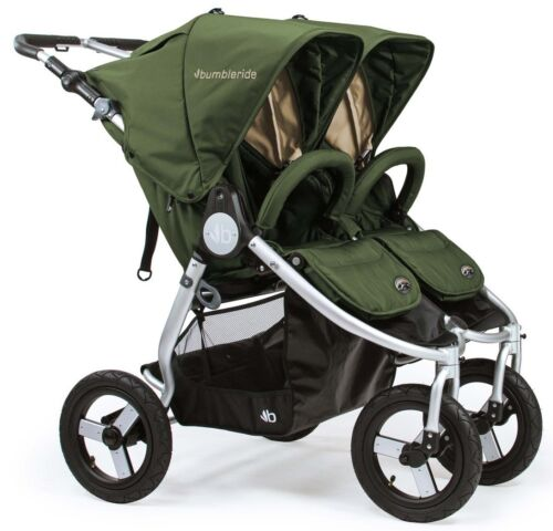 Bumbleride Indie Twin All Terrain Twin Baby Double Stroller Camp Green NEW 2018