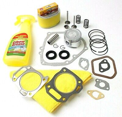 Honda GX160 Top end service kit inc piston, rings, valves, springs, filter, plug