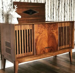 One of a kind MCM updated stereo console w/ Bluetooth