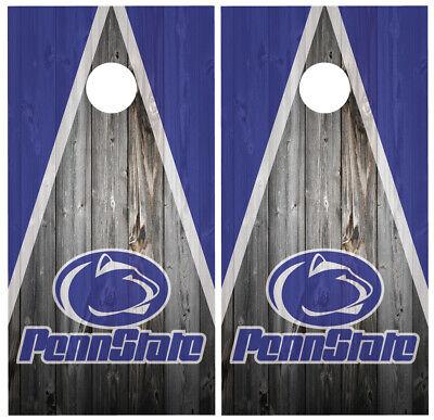 Penn State Nittany Lions Cornhole Wrap NCAA Game Skin Set Vinyl Decal Logo CO854