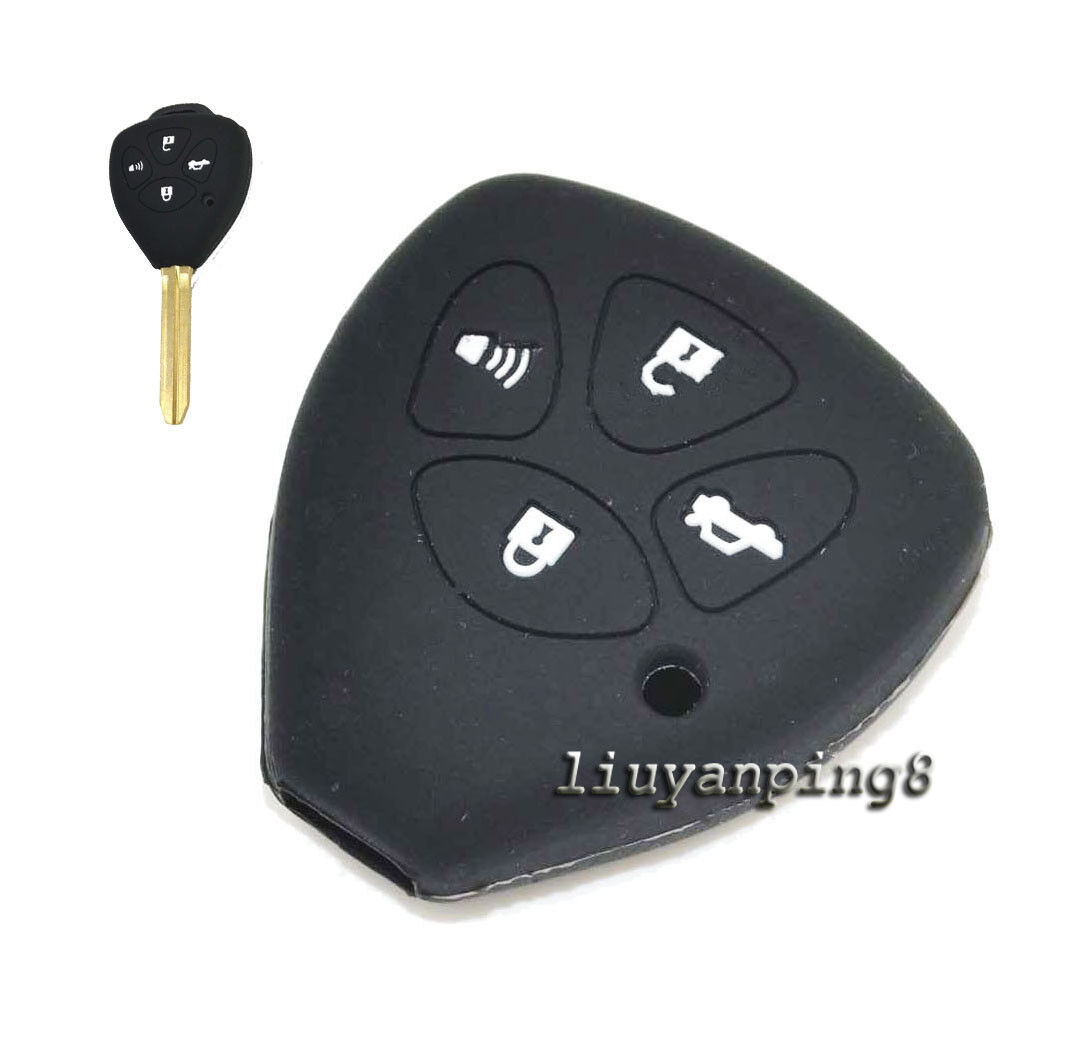 4 Button Silicone Cover Shell Remote Smart Key Case For Toyota Camry Avalon RAV4