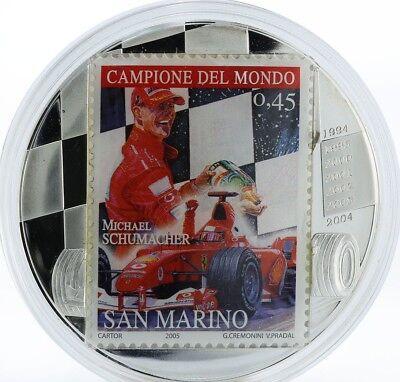 Congo Kongo 10 Francs Michael Schumacher San Marino Silver 2 oz 2007