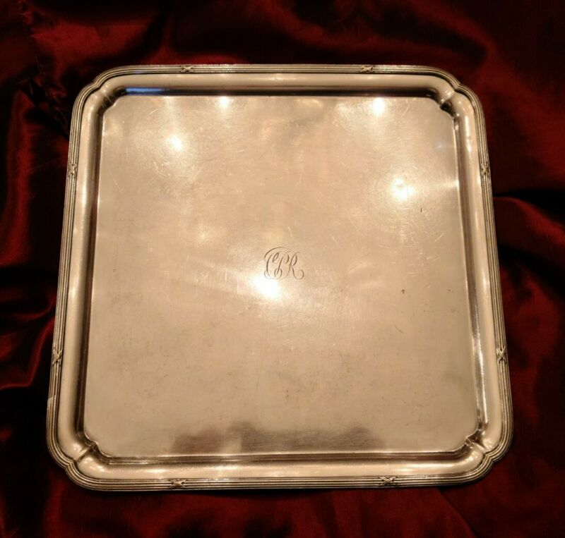 """RARE Canadian Pacific Railway CPR Passenger Car Silver 12"""" Waiter Tray"""
