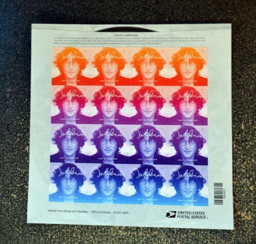 2018usa #5312-5315 Forever - John Lennon - Sheet Of 16 Stamps Mint Music Beatles
