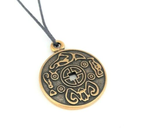 Korean Coin of Happiness Pendant Necklace for Men Jewelry Lucky Health Charm