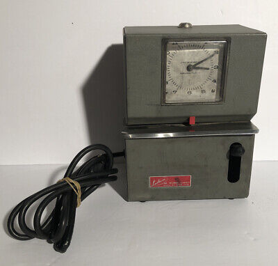 Lathem Model 2121 Time Clock Punch Machine As Is For Parts Or Repair Untested