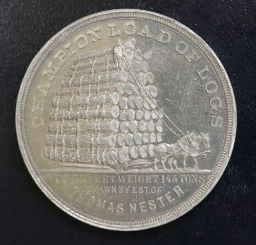 1893 COLUMBIAN WORLD FAIR CHICAGO,IL MICHIGAN FORESTRY EXHIBIT TOKEN - LG1149