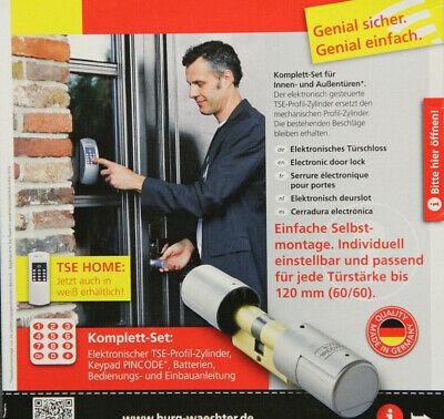 BURG-WÄCHTER elektronisches Türschloss TSE HOME 4001 mit Pincode silber neu