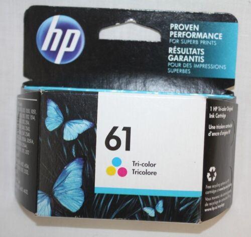 HP 61 Tri -Color Ink Cartridge Expired June 2017 New Factory Sealed
