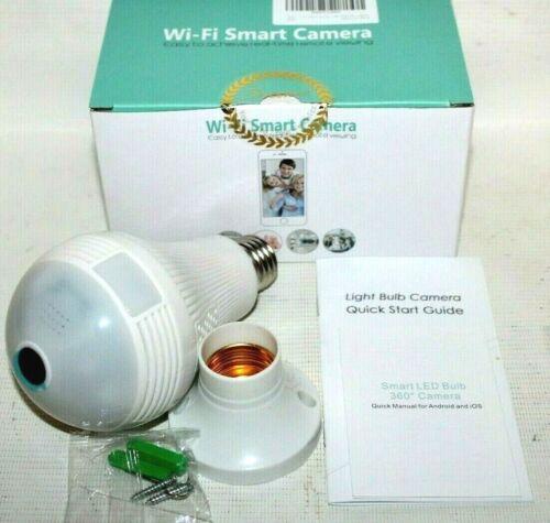 iCSee B2-R-V2 WiFi Panorama Camera Surveillance Light Bulb SMART - New, Sealed!