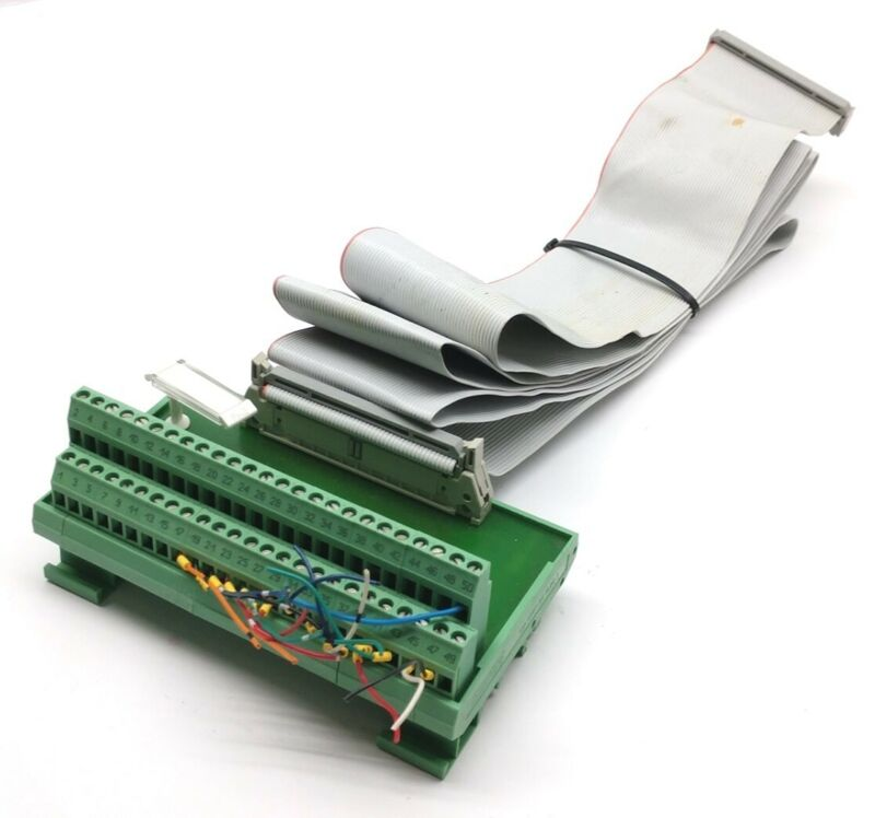 Phoenix Contact FLKM 50 Breakout Module Terminal Interface 50-Pin Ribbon Cable