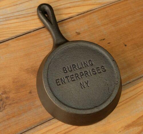 RARE Burling Enterprises N.Y. Mini Mini Advertising Skillet Excellent Condition