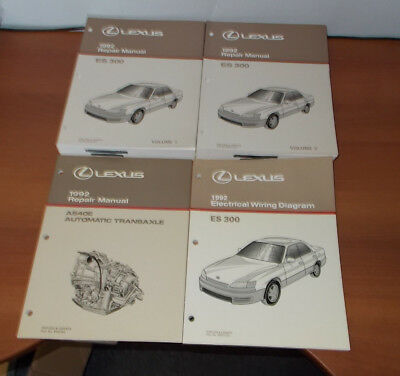 1992 LEXUS ES300 REPAIR MANUAL VOL 1&2 ELECTRICAL WIRING DIAGRAM AUTO TRANSAXLE