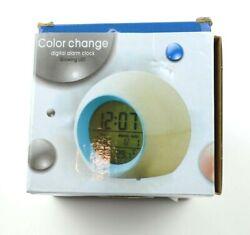 Kids Alarm Clock Multi Color Change Digital Alarm Clock Glowing LED