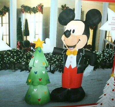 DISNEY CHRISTMAS AIRBLOWN INFLATABLE 7.5 FT LIGHTED MICKEY MOUSE