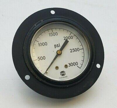Usg 3000 Psi Panel Mount U.s. Gauge 3-12 Dia Steampunk Rat Rod 0-3000 Pressure